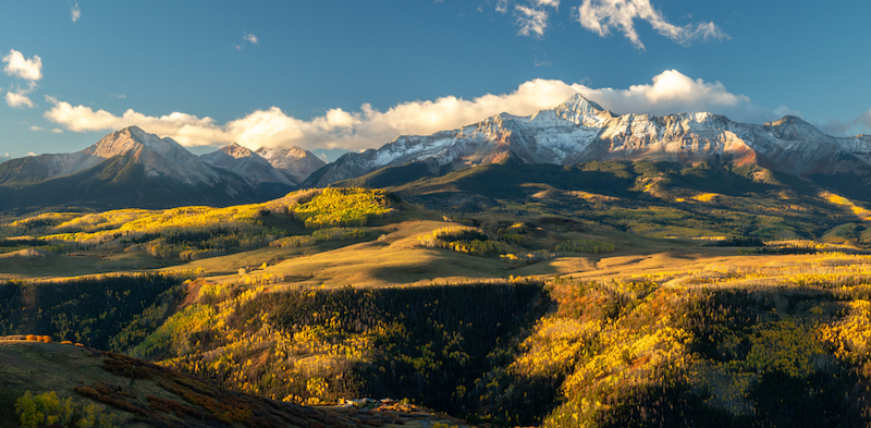 Spectacular mountain views from Last Dollar Road to Telluride
